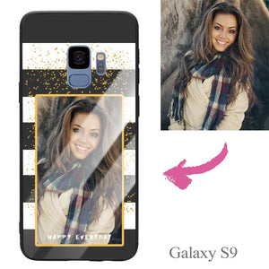 "Galaxy S9 Custom ""Happy Everyday"" Photo Protective Phone Case - Glass Surface"