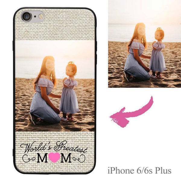 "iPhone6p/6sp Custom ""Mom"" Photo Protective Phone Case Soft Shell Matte"