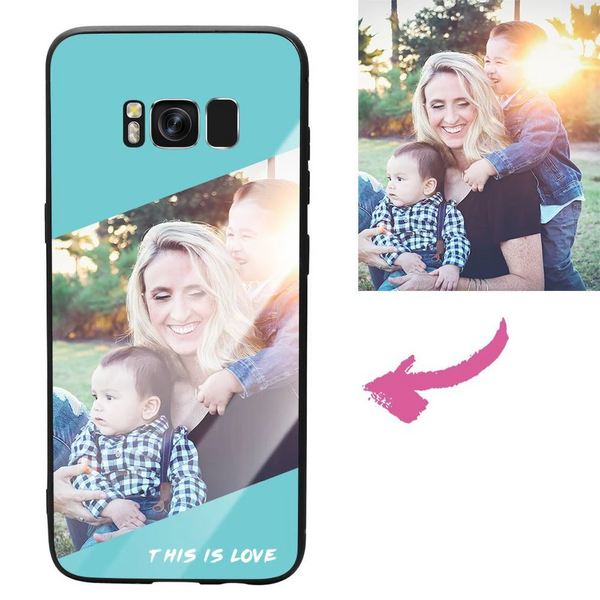 "Galaxy S8 Custom ""This Is Love"" Photo Protective Phone Case - Glass Surface"