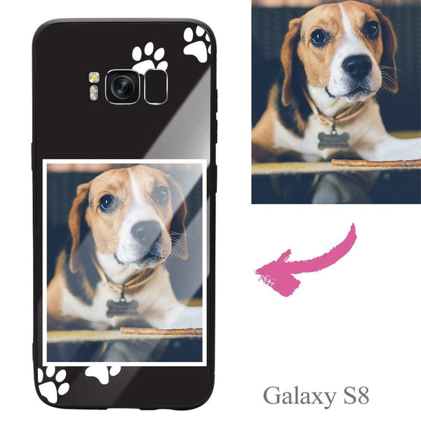Galaxy S8 Custom Dog Photo Protective Phone Case - Glass Surface
