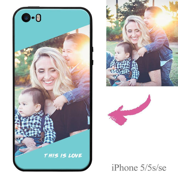 "iPhone5/5s/se Custom ""This Is Love"" Photo Protective Phone Case Soft Shell Matte"