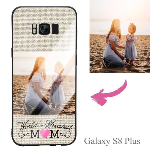 "Galaxy S8 Plus Custom ""Mom"" Photo Protective Phone Case - Glass Surface"