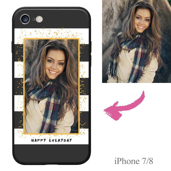 "iPhone7/8 Custom ""Happy Everyday"" Photo Protective Phone Case Soft Shell Matte"