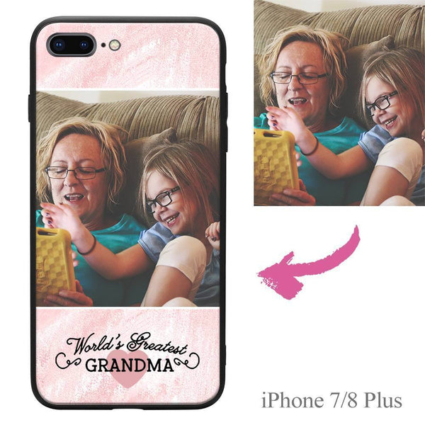 "iPhone7p/8p Custom ""Grandma"" Photo Protective Phone Case Soft Shell Matte"
