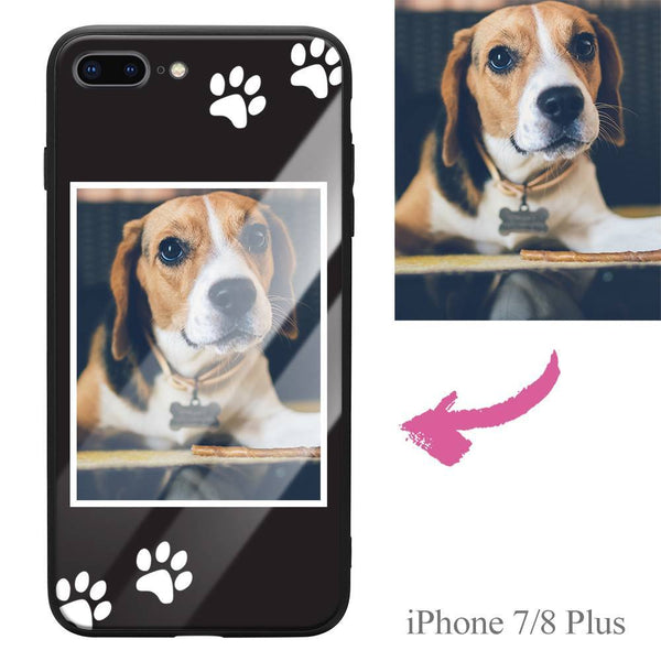 iPhone7p/8p Custom Dog Photo Protective Phone Case - Glass Surface