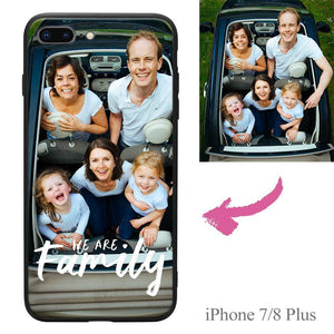 "iPhone7p/8p Custom ""We Are Family"" Photo Protective Phone Case Soft Shell Matte"