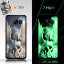 Custom Samsung Luminous Glass Surface Phone Case