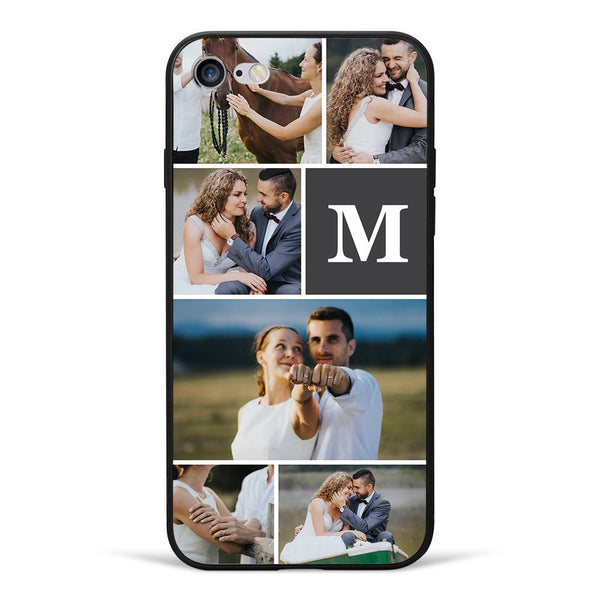 iPhone7/8 Custom Photo Phone Case - 6 Pictures with Single Letter
