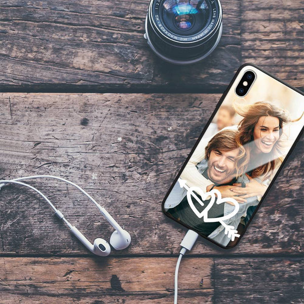 iPhone7p/8p Custom Love Glass Surface Photo Phone Case