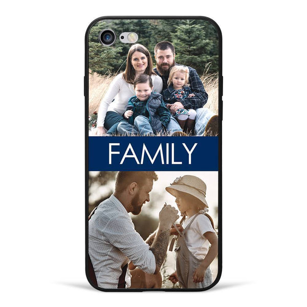 iPhone7/8 Custom Photo Phone Case - 2 Pictures with Name