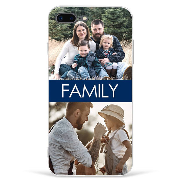 iPhone7p/8p Custom Photo Phone Case - 2 Pictures with Name