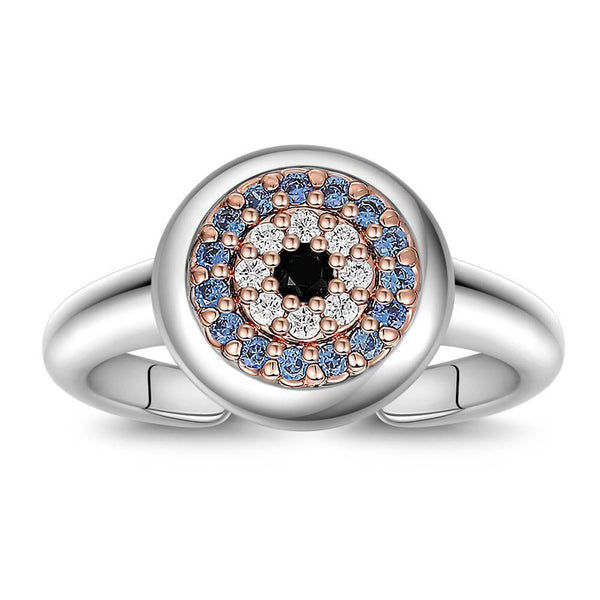 Devil's Eye Ring in Platinum  Plated