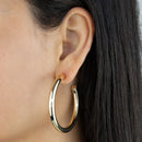 Large Hollow Hoop Earring