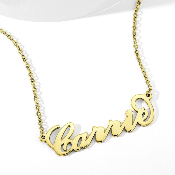 Carrie Style Name Necklace Copper For Her -  Love Name Necklace