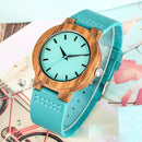 To My Daughter - Sky Blue Leather Wooden Watch