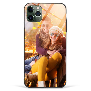 Custom Photo Phone Case Glass Surface for All iPhone Types