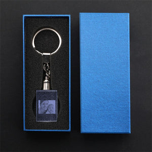 Custom Crystal Rectangle Shape Photo Key Chain