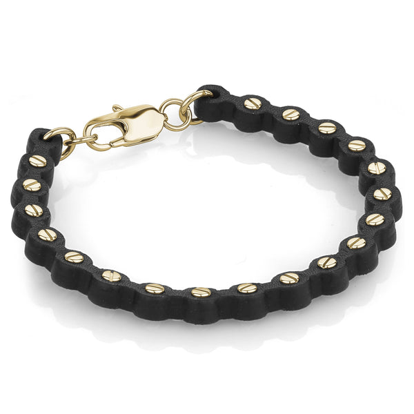 Leather Screw Bracelet