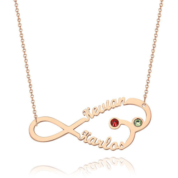 Infinity Name Necklace With Personality Birthstone