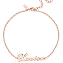 Custom Name Anklet Copper in Rose Gold Plated