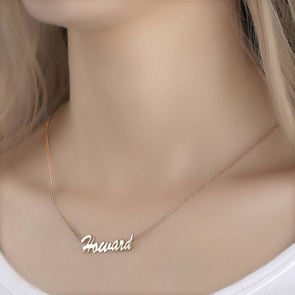 Personalized Customized Your Name Jewelry Name Necklace Rose Gold Plated