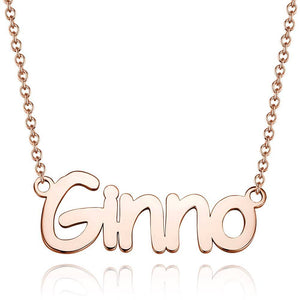 Personalized Personality Name Necklace Copper in Rose Gold