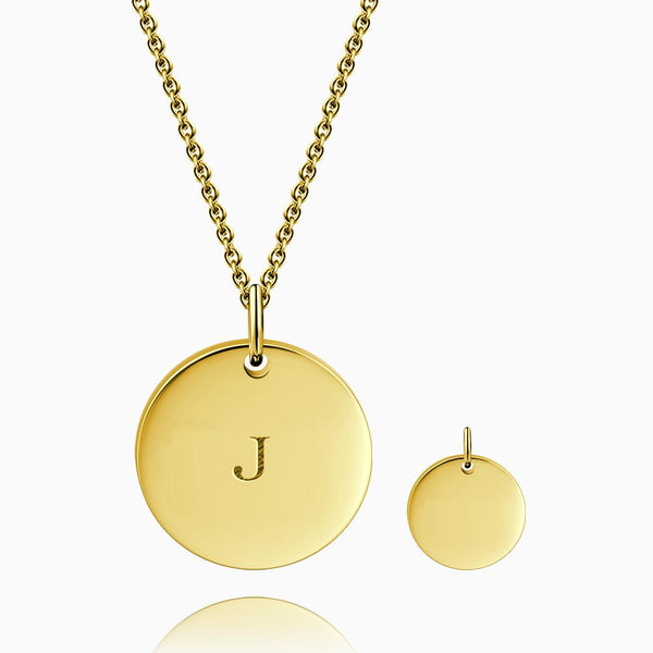 Engraving Initial Coin Necklace 14k Gold Plated And Layered Star Necklace Set
