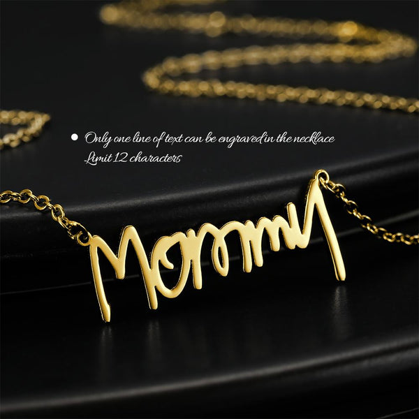 Personalized Handwriting Name Necklace Gift For Her 14k Gold Plated Golden