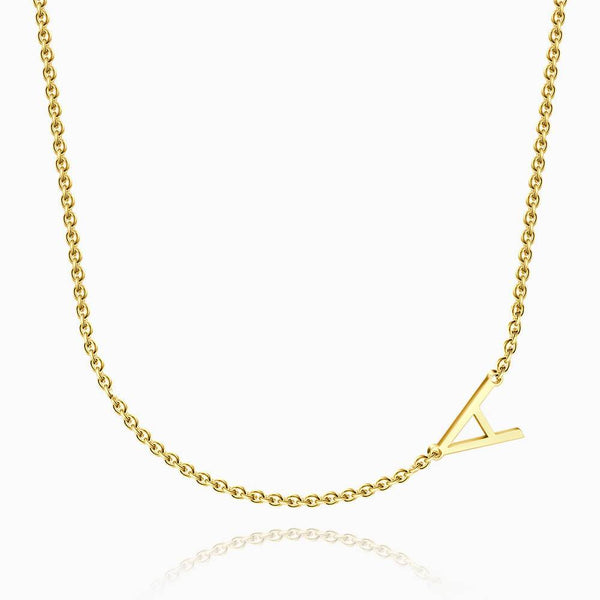 Initial Name Necklace 14k Gold Plated