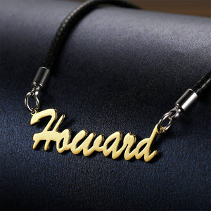 Personalized Men's Name Necklace Boyfriend Gift Rose Gold Plated Golden