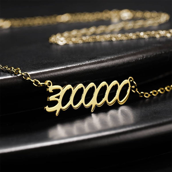 Personalized Number Necklace 14K Gold