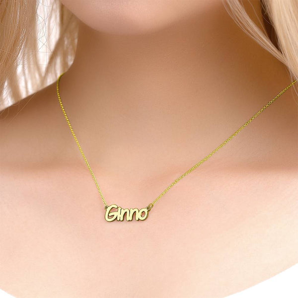 Personalized Personality Name Necklace Copper in 14K Gold