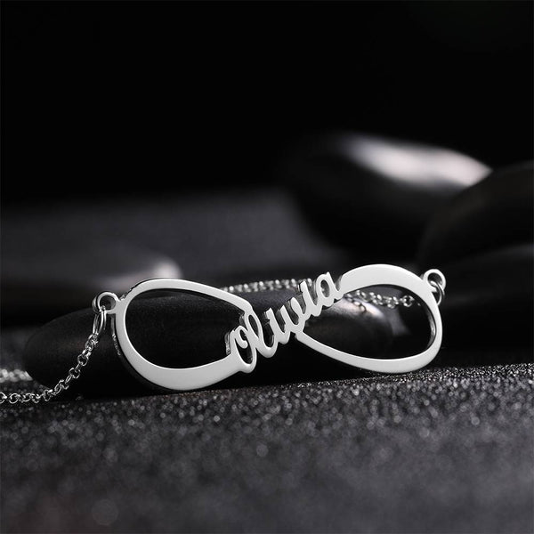 Personalized Infinity Love Name Necklace