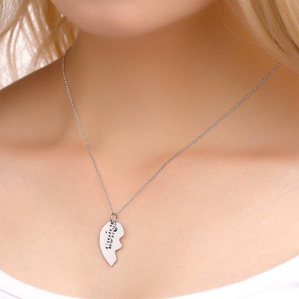 Personalized Love Shape For Couple Name Necklace