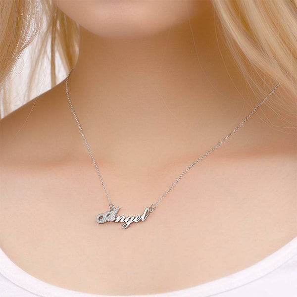 Personalized Personality Name Necklace Copper in Silver