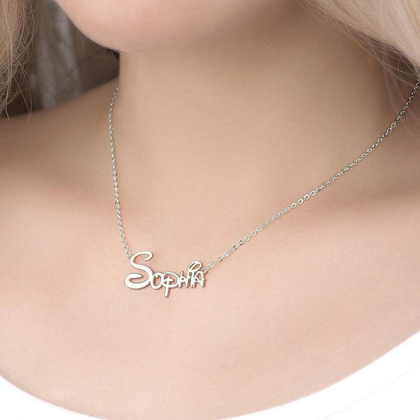 Custom  Name Necklace, Disney Necklace for Her