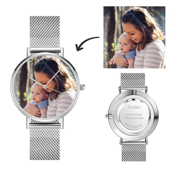 Personalized Women's Engraved Watch Bracelet For Mom