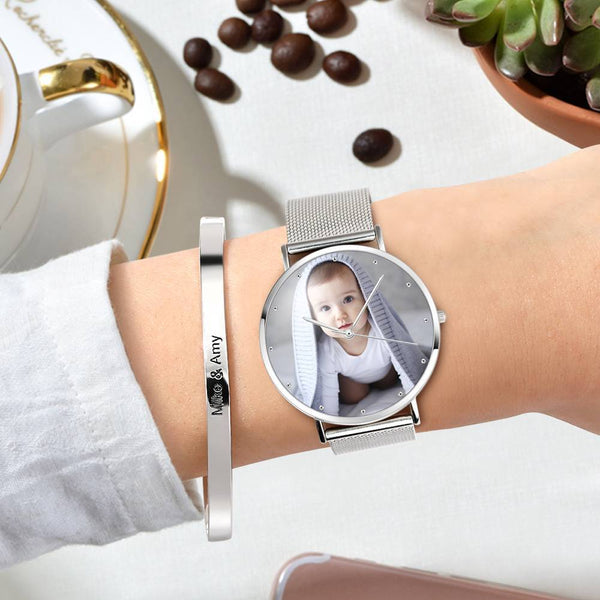 Graduation Gifts Personalized Women's Engraved Watch Bracelet