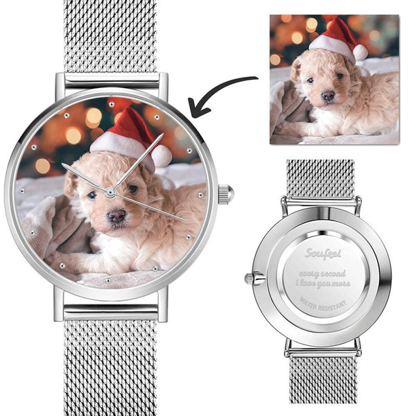Photo Watch - Personalized Women's Engraved Watch Bracelet For Her