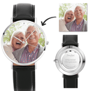 Photo Watch - Personalized Engraved Watch Black Strap Love For Love