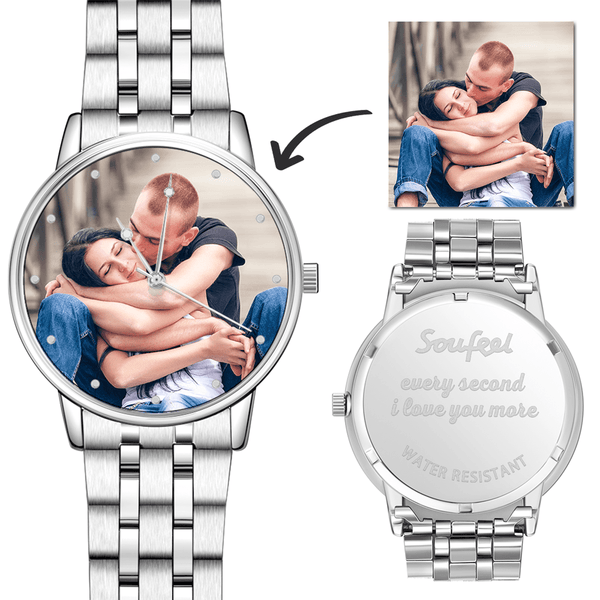 Graduation Gifts Photo Watch - Personalized Engraved Watch Bracelet For Her