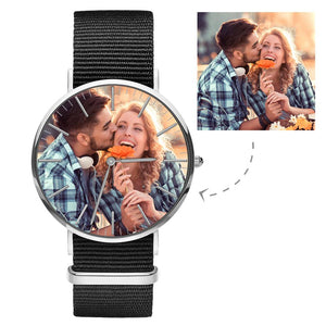Photo Watch - Personalized Engraved Watch Black Strap For Love
