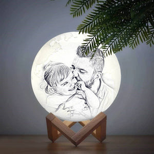 Tap Three Colors - Magic 3D Printing Earth Photo Engraved Lamp (10-20cm)