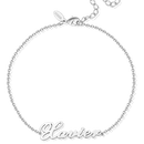 Custom Name Anklet Silver