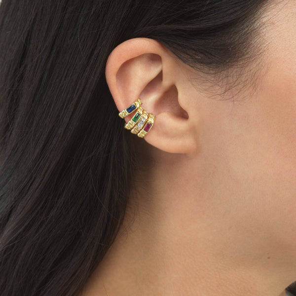 Links Stone Ear Cuff Combo Set