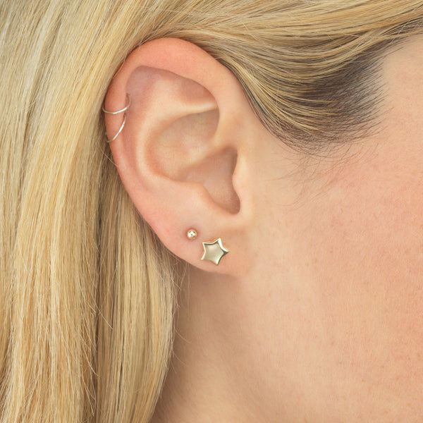 Ball Stud Earring 14K