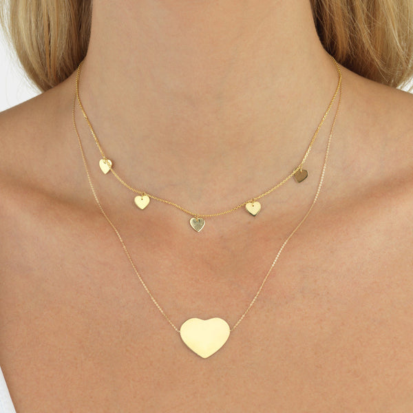 Heart Necklace 14K