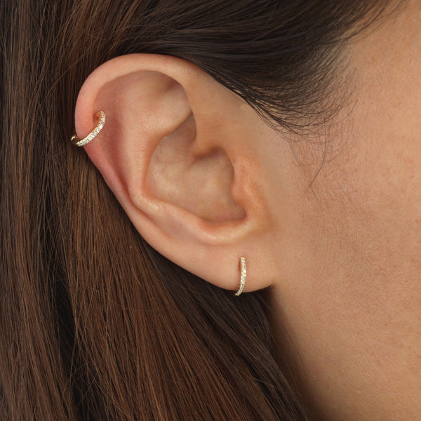 Diamond Ear Cuff 14K