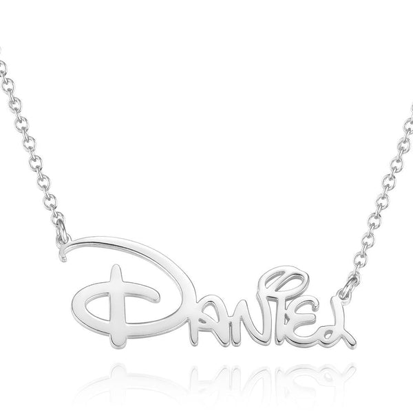 Custom Silver Name Necklace Personalized Lover Name Necklace Name Gift
