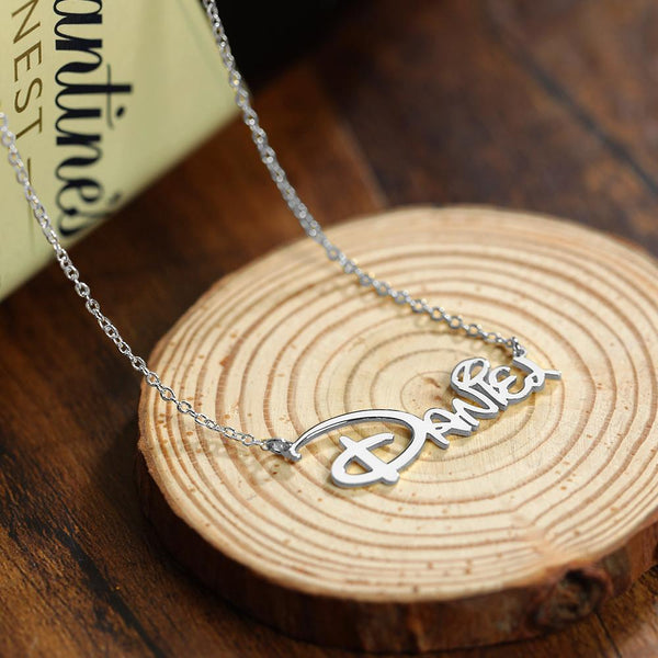 Custom  Name Disney Necklace Unique Gift